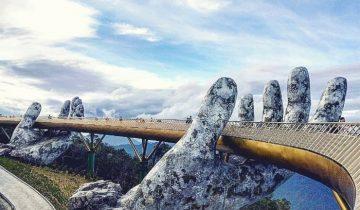"""Dân tình """"bấn loạn"""" trước cây cầu vàng hình bàn tay khổng lồ ở Đà Nẵng, rần rần rủ nhau đến check in"""