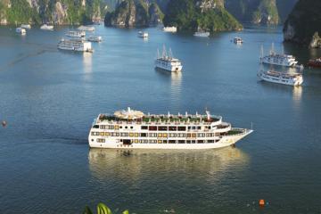 Tour Free & Easy : Du thuyền Athena Cruise 5 Sao Hà Nội – Khám phá Vịnh Bái Tử Longđẳng cấp 5 sao trên Vịnh Hạ Long